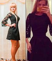 Платье клеш молодежное с гипюром