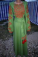 "Вишита сукня ""Романтика"" зелене"