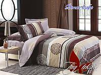 Двуспальный комплект постельного белья ранфорс Фенси кофе ТM TAG