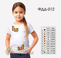 Пошитая футболка на девочку №012