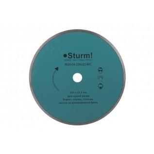 9020-04-230x22-WC Алмазный диск непрерыв. Sturm d=230 мм, 20-22%
