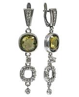 """Серьги """"Аустралис"""" с кристаллами Swarovski, покрытые серебром (b1363133)"""