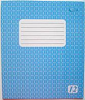 Тетрадь ФОНОВАЯ 12 листов «Мрiї збуваються» КЛЕТКА (зошит шкільний, 12 аркушів, клітинка)