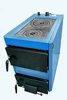 Котел на твердом топливе Хотт (Hott) 20-25п (4мм) на две комфорки, фото 1