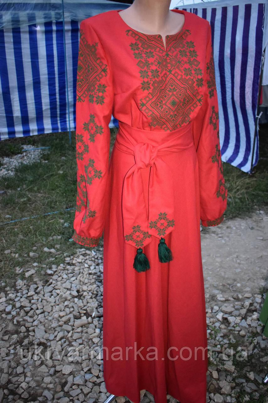 """Вишита сукня """"Романтика"""" червоне"""