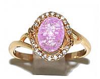 Кольцо ХР. Цвет:позолота.Камни: белый циркон и розовый кристалл .Ширина 11 мм. Есть 16 р. 17 р. 18 р.