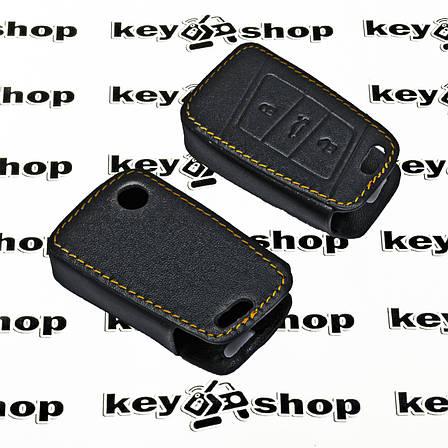 Чехол (кожаный) для смарт ключа Seat (Сеат) 3 кнопки, фото 2