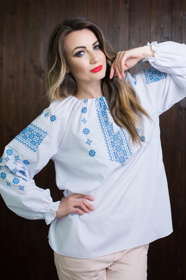 """Необыкновенная женская вышитая блузка с длинными рукавами """"Нина"""""""