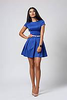 Платье  мод 390 -1 размер 46 электрик