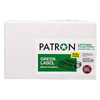 Картридж Patron (PN-85A/725DGL) HP LJ P1102/M1132/Canon LBP 6000/6020/6030 Black (аналог CE285A/Canon 725) Green Label Dual Pack