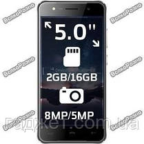 Телефон Homtom HT37 5.0 дюйм-2Gb/16Gb-3000mAh Черного цвета, корпус Металл, фото 3