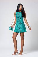 Платье мод. 391-1,размер 40,42,44,46,48 бирюза