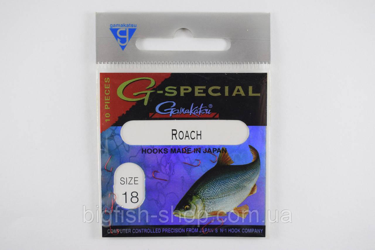 Крючки Gamakatsu Roach №18