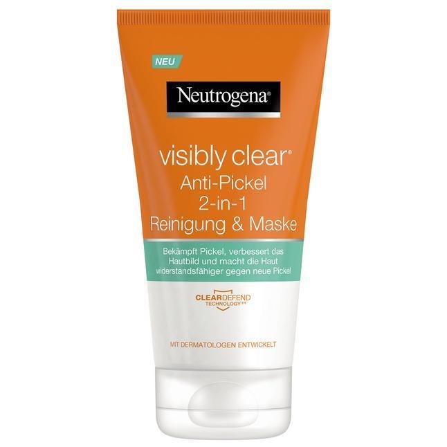 Neutrogena Visibly Clear Anti-Pickel 2-in-1 Reinigung & Maske - Гель-маска для очищения кожи лица 2в1, 150 мл