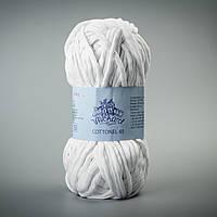 Пряжа Коттонель 65 ТМ Vivchari, цвет Белый