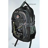 Рюкзак (спиннер в подарок) школьный для мальчика черный G1608-9913с