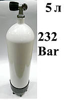Баллон для дайвинга 5 литров Eurocylinder; 232 Bar; белый, фото 1