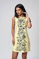 Платье мод. 391-4,размер 46,48 желтое