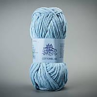 Пряжа для ручного вязания Коттонель 65 Vivchari, цвет Голубой