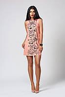 Платье мод. 391-6,размер 40,42,44,46,48 пудра