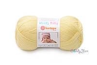 Детская полушерстяная пряжа Kartopu Woolly Baby № K331 Желтый