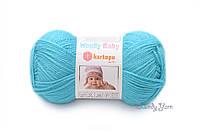 Детская полушерстяная пряжа Kartopu Woolly Baby № K515 Бирюзовый