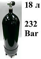 Баллон для дайвинга 18 литров Eurocylinder; 232 Bar; чёрный