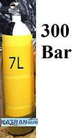 Баллон для дайвинга 7 литров Eurocylinder; 300 Bar; жёлтый