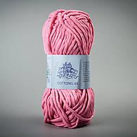 Летняя пряжа Коттонель 65 Vivchari, цвет Ярко-розовый