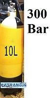 Дайверский баллон Eurocylinder 10 литров; 300 Bar; жёлтый