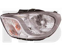 Фара передняя для Hyundai i10 07-13 левая, под электрокорректор (DEPO)