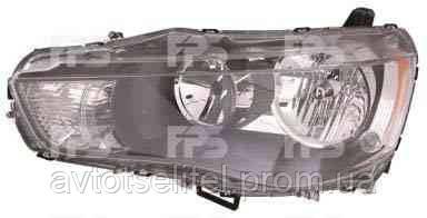 Фара передняя для Mitsubishi Outlander XL 10-12 левая (FPS) нелинзованная под электрокорректор
