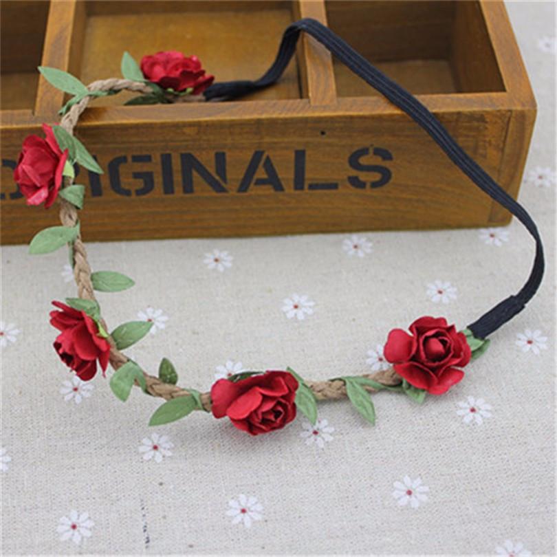Повязка на голову Красные цветы