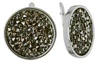 """Серьги """"Карпо"""" с кристаллами Swarovski, покрытые родием (j337f166)"""
