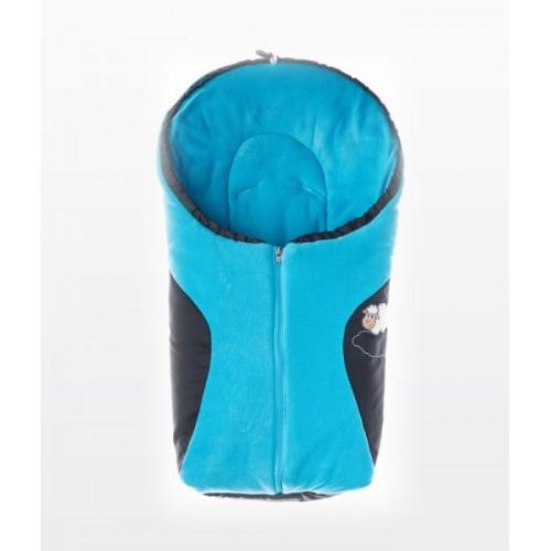 d4ad0a0da63 Детский прогулочный конверт Sensillo Polar 75x36 - black/turquoise -  Kinderoom в Киеве