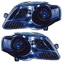 Фара передняя для Volkswagen Passat B6 05-10 правая (DEPO) черный отражатель под электрокорректор