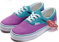 Кеды женские Vans Era Purple/Blue Реплика
