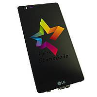 Дисплей для мобильного телефона LG K220DS X Power, черный, с тачскрином, с рамкой ORIG