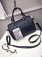 Классическая женская сумка-бочонок на каждый день. Стильный аксессуар. Хорошее качество. Доступно. Код: КГ1674