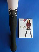 """Колготки (рост 116-122) ЧЁРНО БЕЛЫЕ """"Mona"""" 30/70 Den Cats ,3D Польша"""
