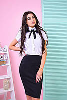 Костюм модный рубашка с коротким рукавом и юбка-карандаш Ks535