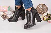 Ботиночки на устойчивом каблуке Bjork. Натуральная кожа, внутри на байке.Цвет черный.Размер в размер.Р-р 36-40