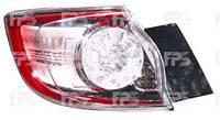 Фонарь задний для Mazda 3 хетчбек 09-13 правый (DEPO) внешний, Led