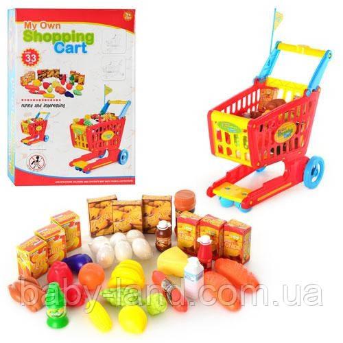 """Игровой набор - тележка с продуктами для супермаркета арт. 6619  - """"Беби Лэнд"""" Интернет-магазин Детских товаров в Запорожье"""