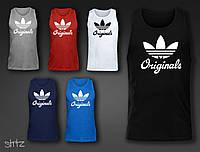 Яркая мужская майка для тренировки с принтом Adidas Originals  (есть разные принти в наличии)
