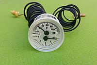 Термоманометр капиллярный PAKKENS Ø40мм / 0-4 бар / Tmax=120°С / длина капилляров L=1м       Турция, фото 1