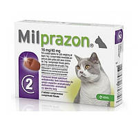 Милпразон антигельминтик для кошек от 2 кг.,2 таб., фото 1