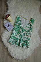 Топ в тропический принт Zara, фото 2