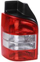 Фонарь задний для Volkswagen T5 03-09 левый (DEPO) 2 двери, красно-белый