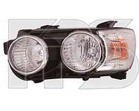 Фара передняя для Chevrolet Aveo 11- правая хромированный отражатель. (DEPO) под электрокорректор